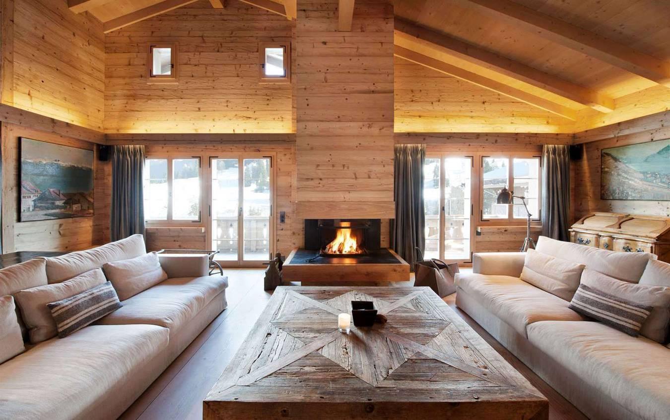 Дизайн интерьера кухни в бревенчатом доме
