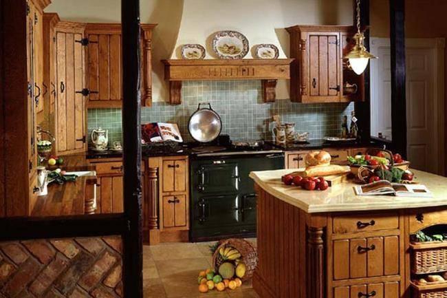 Кухня в деревянном доме: фото, дизайн интерьера, лучшие идеи отделки