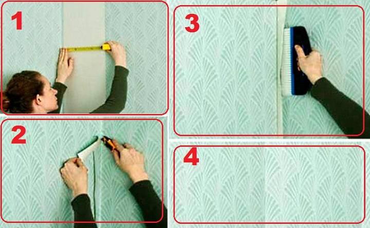 Как правильно клеить обои в углах комнаты: флизелиновые и виниловые