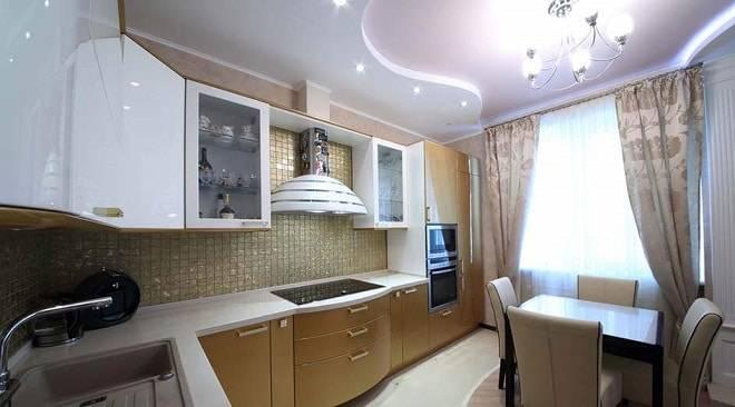 Потолок из гипсокартона на кухне: дизайн и варианты оформления :: syl.ru