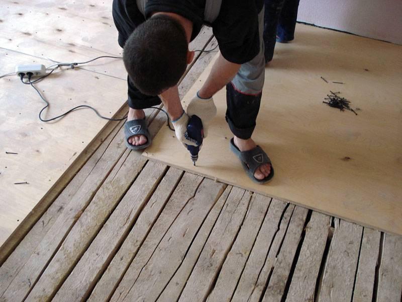 Фанера под линолеум на деревянный пол