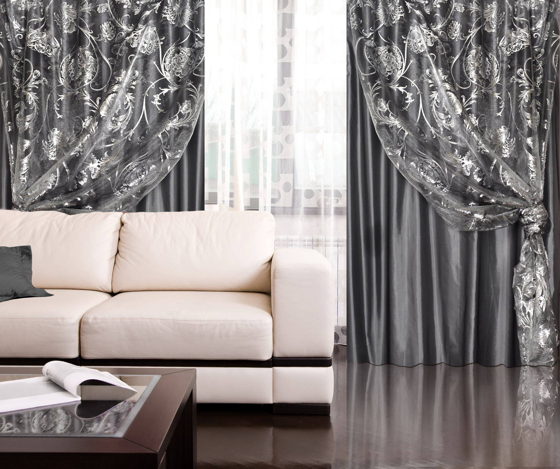 Белые обои с интерьере: какие шторы подойдут?