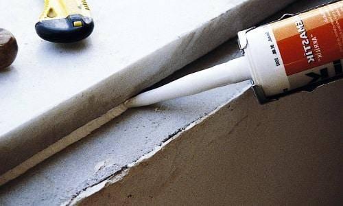 Герметизация деформационных швов в бетонных полах — виды герметиков для бетона