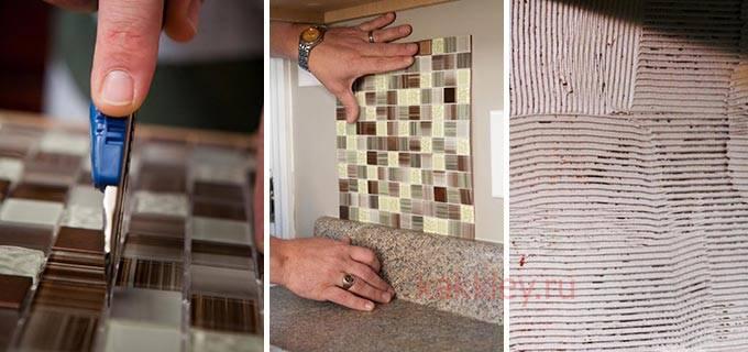 На что и как клеить мозаику на сетке | топ-5 марок клея