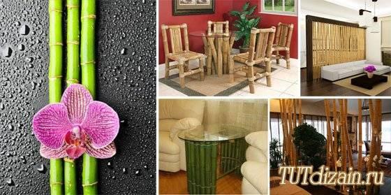 Бамбук в интерьере: обои, панели, полотна, пол и стволы