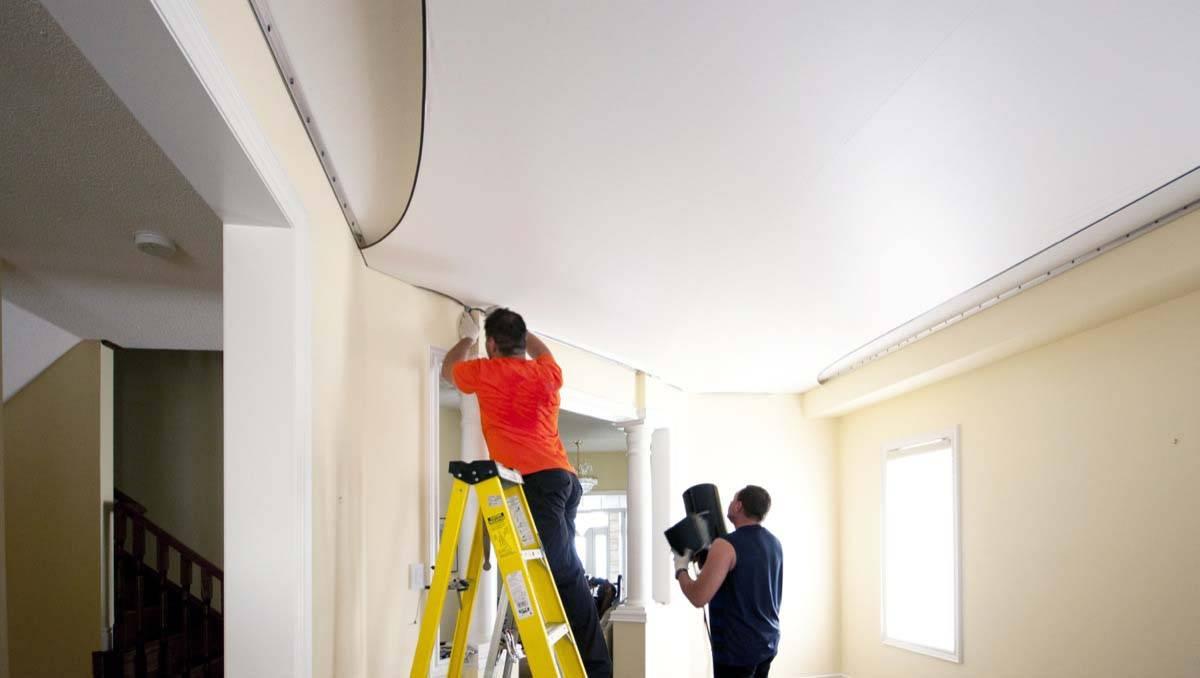 На каком этапе ремонта делают натяжные потолки: когда делать во время ремонта, в какой момент устанавливают, на какой стадии делать, как устанавливать, натягивать