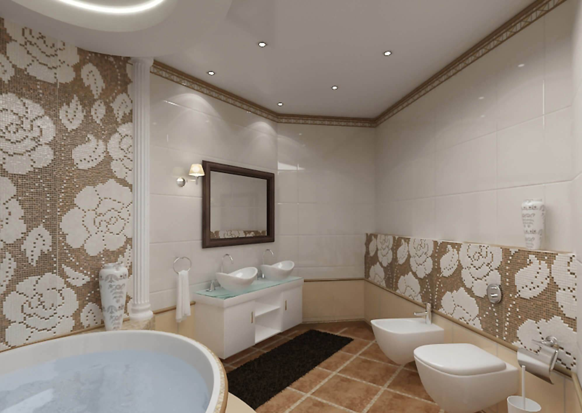 Выбор и ремонт потолка в туалете