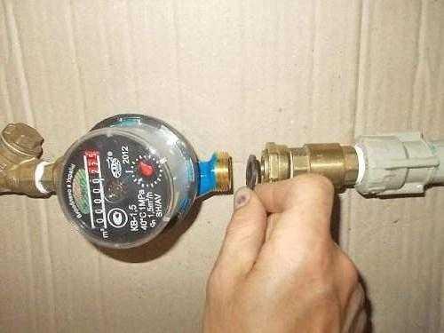 Схема установки счетчика воды своими руками