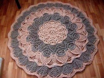Вязаные ковры крючком из шнура. схемы