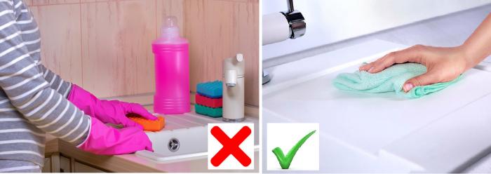 Чем чистить раковину из искусственного камня на кухне, как за ней ухаживать?