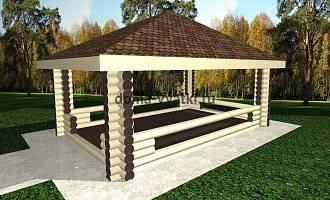 Беседки из бревна (68 фото): дачи с беседкой из оцилиндрованного сруба, рубленные бревенчатые конструкции с мангалом, постройки из оцилиндровки