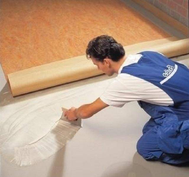 Укладка линолеума своими руками: на деревянный и бетонный пол