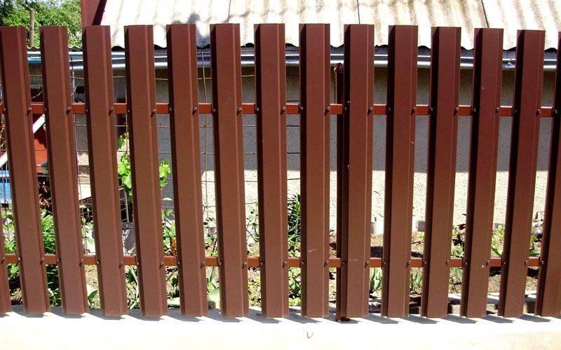 Забор из евроштакетника своими руками пошаговая инструкция