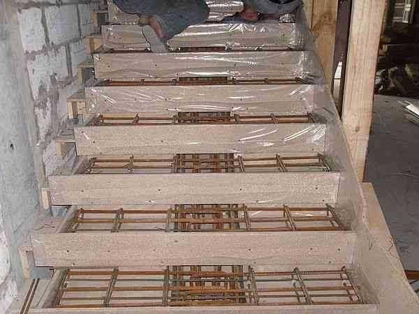 Лестница из бетона - этапы работ по возведению и монтажу