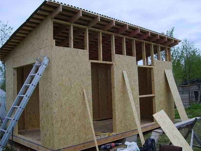 Как построить сарай с односкатной крышей своими руками ? 35 фото поэтапное строительство хозпостройки из профнастила по чертежу, чем покрыть