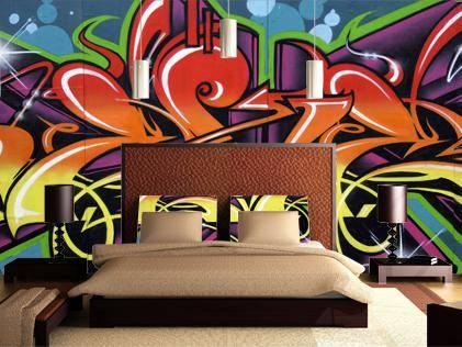 Необычные фотообои: фрески, графика и граффити
