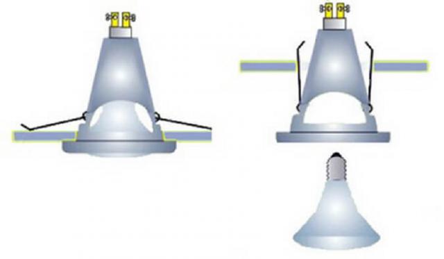Как менять лампочки в подвесном потолке своими руками