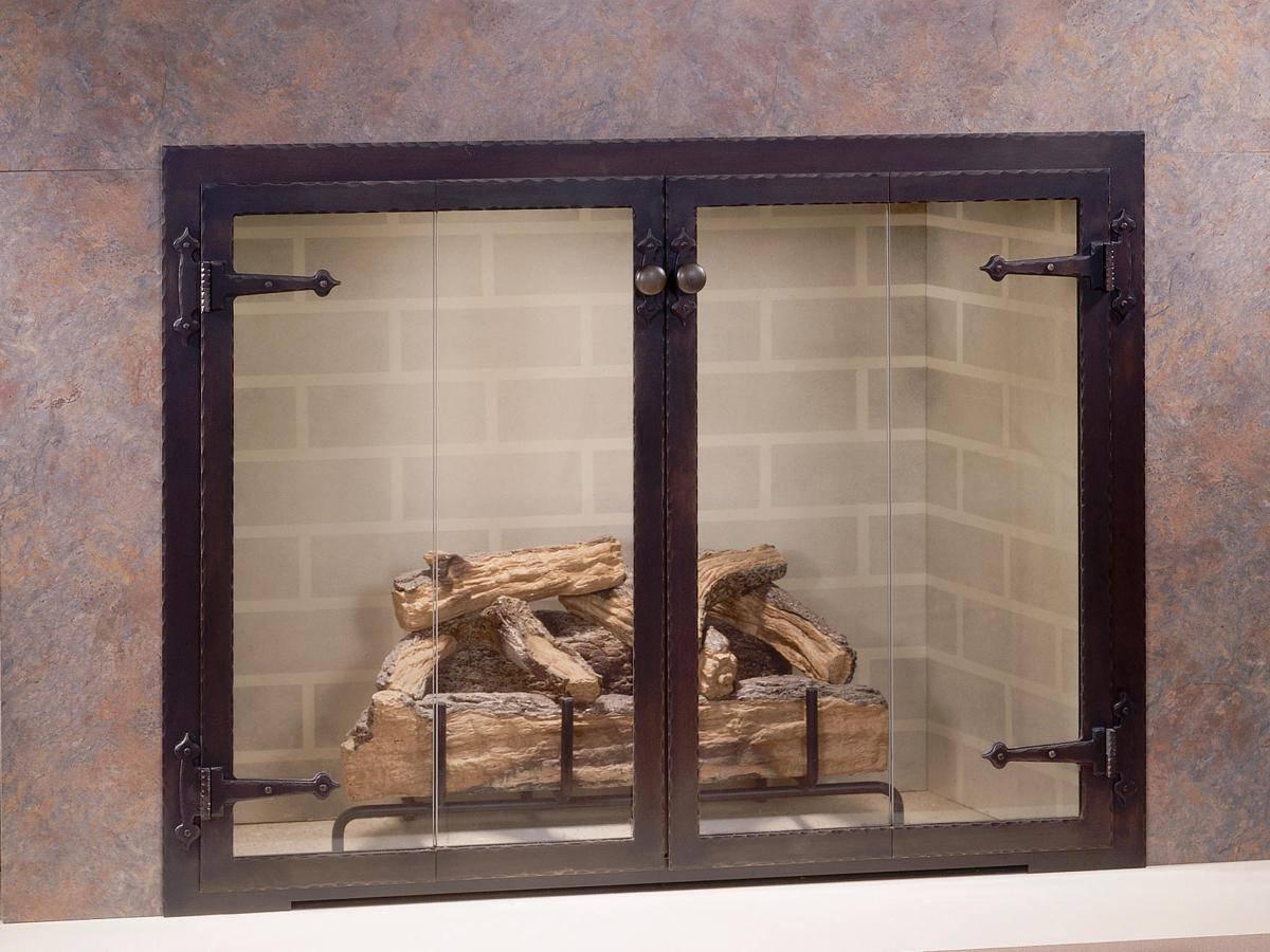 Дверки со стеклом для камина (37 фото): каминные стеклянные дверцы своими руками