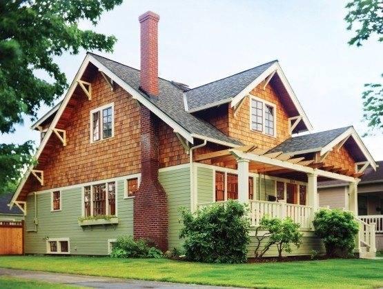 Комбинированные дома - камень, дерево и пенобетон (105 фото)