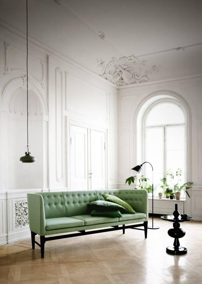 Фисташковая гостиная — оригинальные решения для интерьера