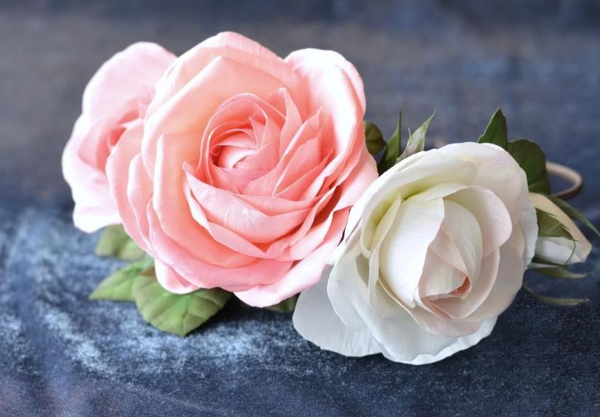 Роза из фоамирана - простейший способ ее создания | страна мастеров