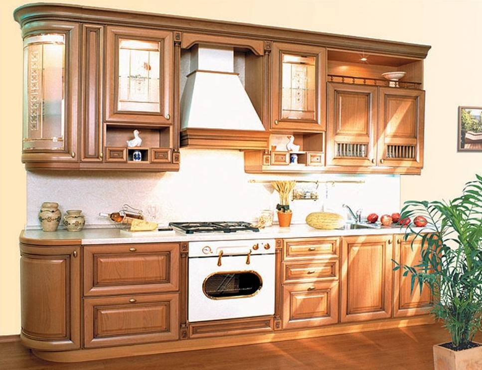 Кухни из массива - варианты дизайна высококлассной мебели