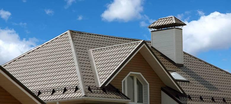 Крыша из металлочерепицы для частного дома – 20 фото