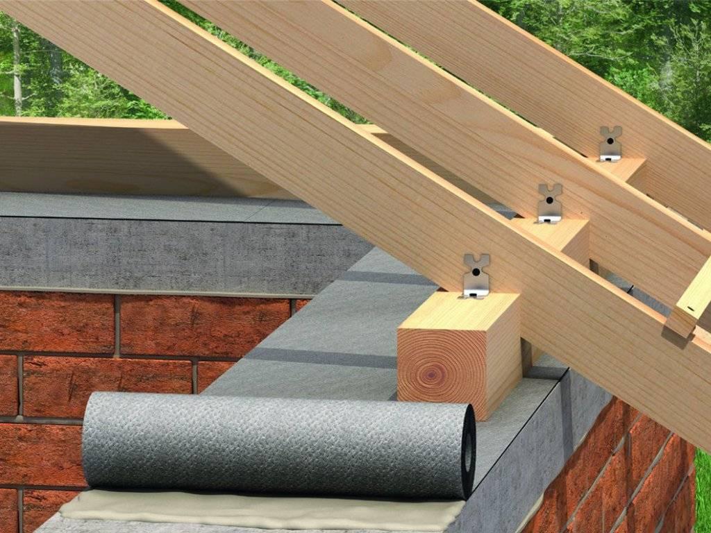 Мауэрлат для двускатной крыши: схемы, инструкции, монтаж, установка
