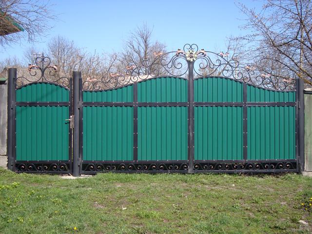 Ворота из профлиста своими руками - пошаговая инструкция!
