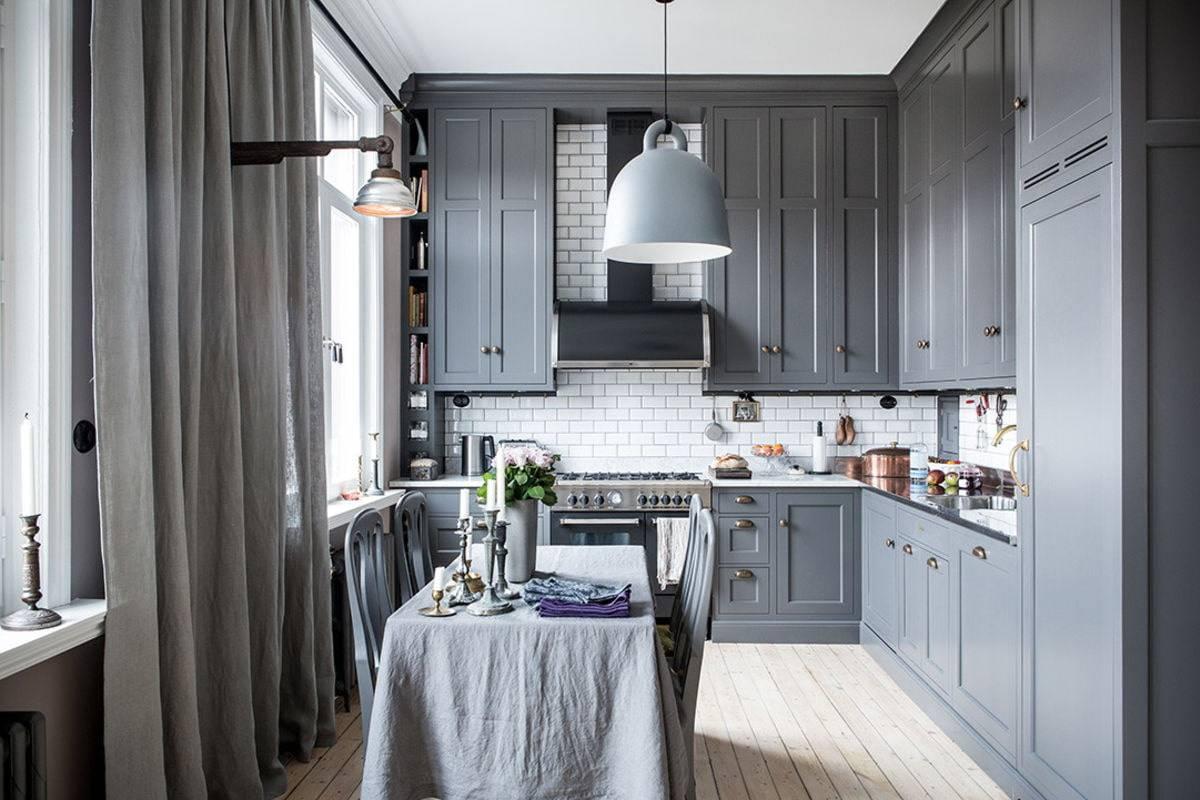Серая кухня: фото, цветовые сочетания, дизайн интерьера