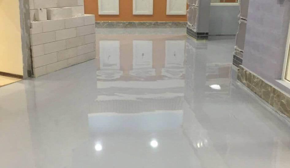 Чем покрасить бетонный пол в гараже чтобы не пылил?