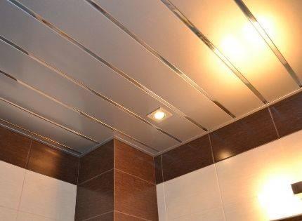 Монтаж реечного потолка без подвесов