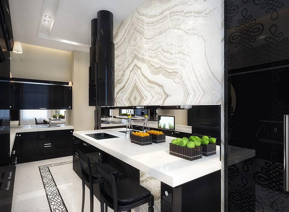 Черная кухня: 4 минуса,сочетание со вторым цветом,фото в интерьере