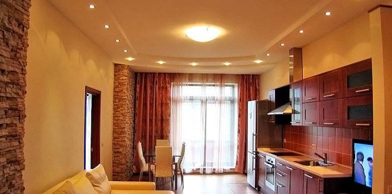 25 идей для подвесного потолка из гипсокартона на кухне