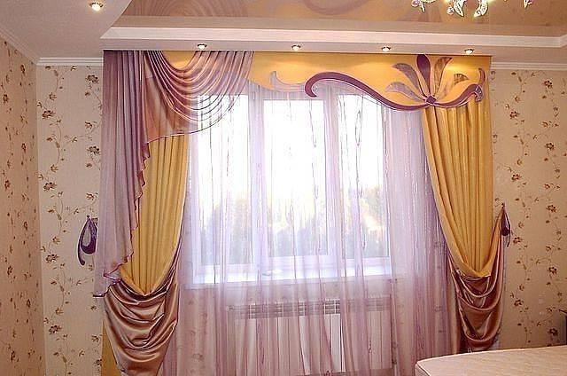 Бандо для штор (38 фото): красивый жесткий ламбрекен на 3 окна с аппликацией и рисунками, с люверсами и в стиле винтаж