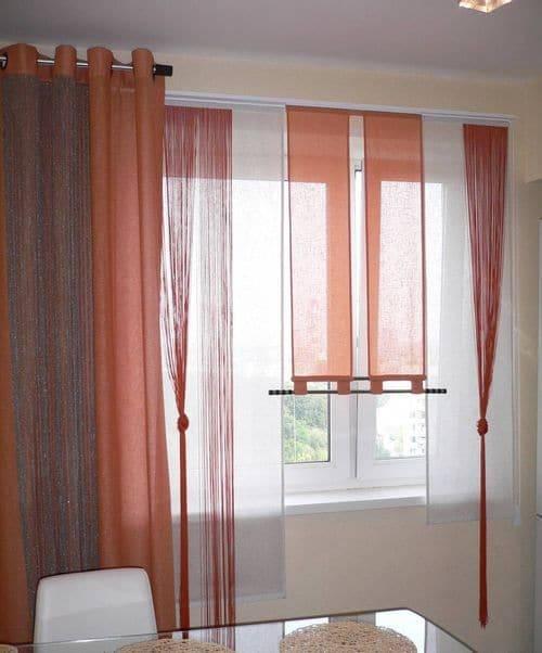 Японские панельные шторы