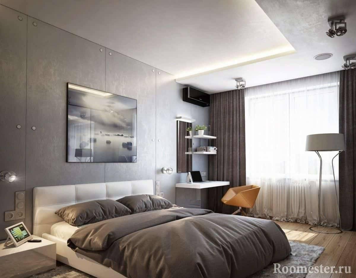 Дизайн спальни 13 кв. м (64 фото): реальные идеи интерьера для прямоугольной комнаты