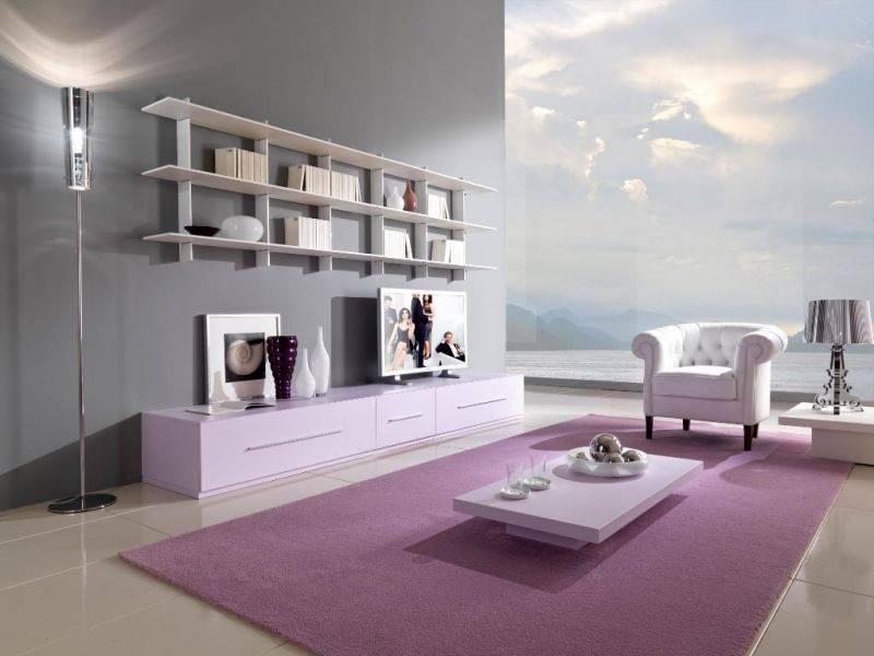 Оттенки лаванды в интерьере квартиры: материалы, удачные комбинации и способы отделки