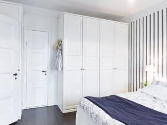 Белый шкаф в спальню (52 фото): классические распашные шкафы с зеркалом, глянец, классика