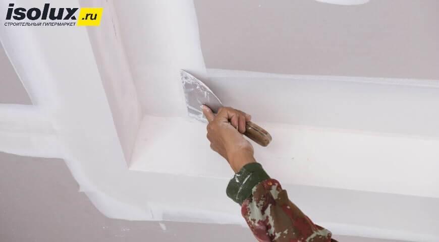 Шпатлевка для потолка: какую шпаклевку выбрать для потолка под покраску, какая лучше, какой шпаклевать, чем лучше, готовые шпаклевки, как выбрать финишную шпатлевку
