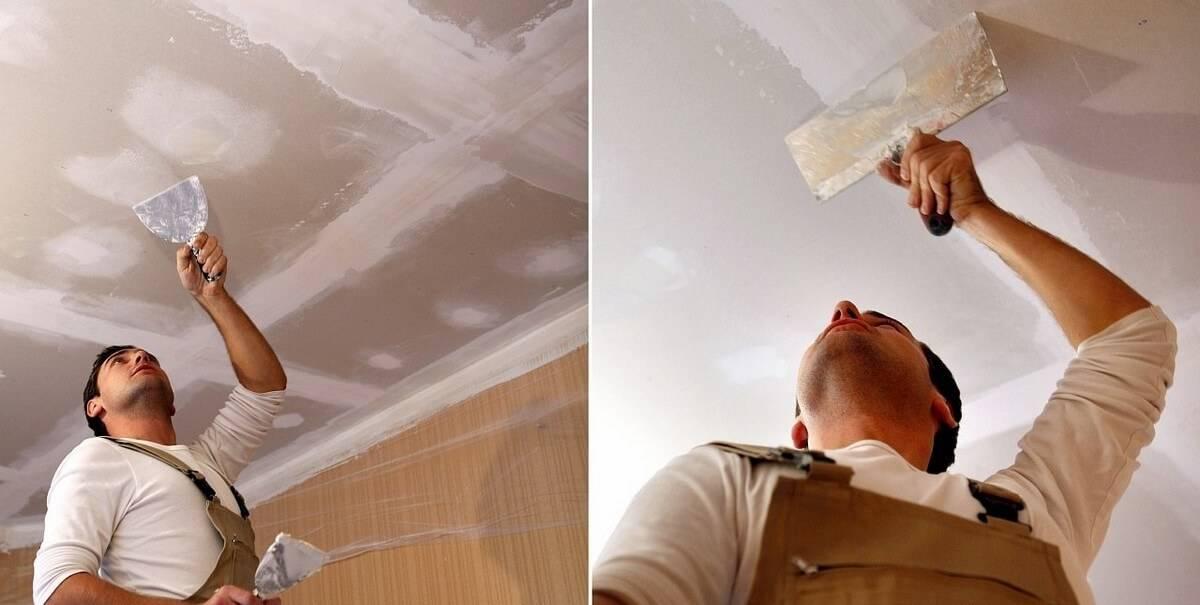 Выравнивание потолка штукатуркой по маякам | выравнивание потолка