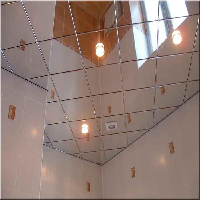 Зеркальный потолок в ванной: фото примеры / zonavannoi.ru