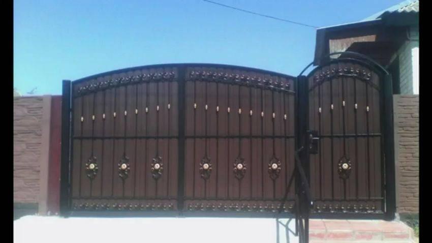 Как сделать ворота из профнастила своими руками: как сделать и установить красивые и надежные ворота (135 фото)