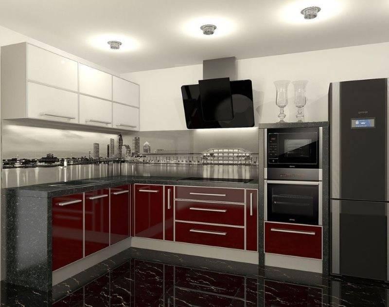 Особенности дизайна бордовой кухни