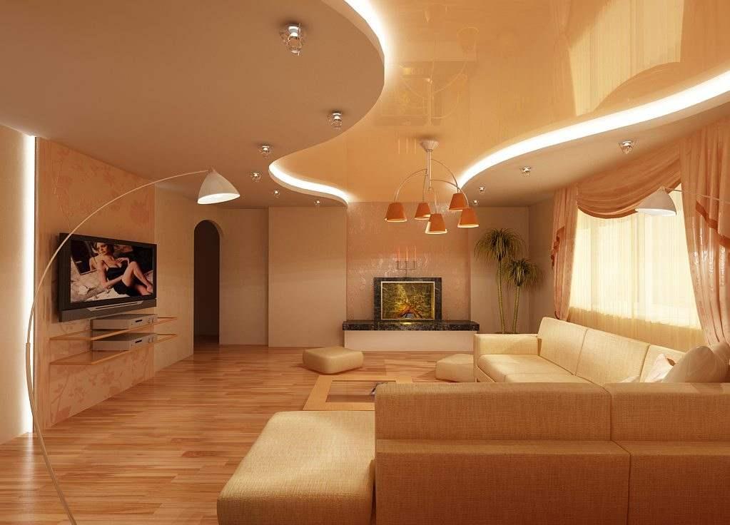 Комбинированный потолок на кухне: гипсокартон и натяжной (+фото интересных вариантов)
