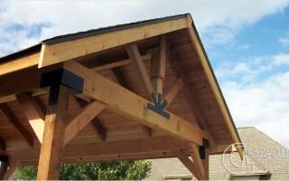 Хорошо продуманный шаг: делаем беседку с односкатной крышей