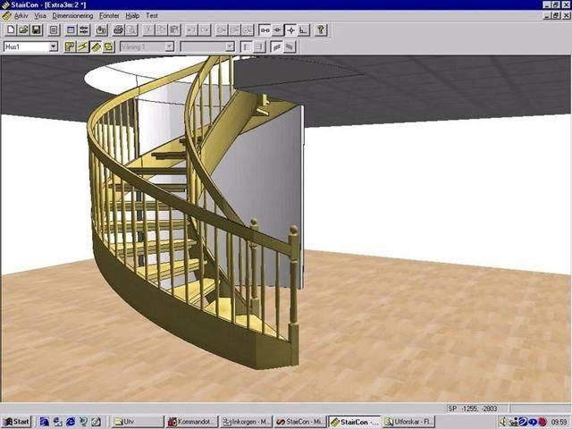 3d расчет металлической лестницы с поворотом 180 градусов и тетивой зигзаг - онлайн калькулятор | perpendicular.pro