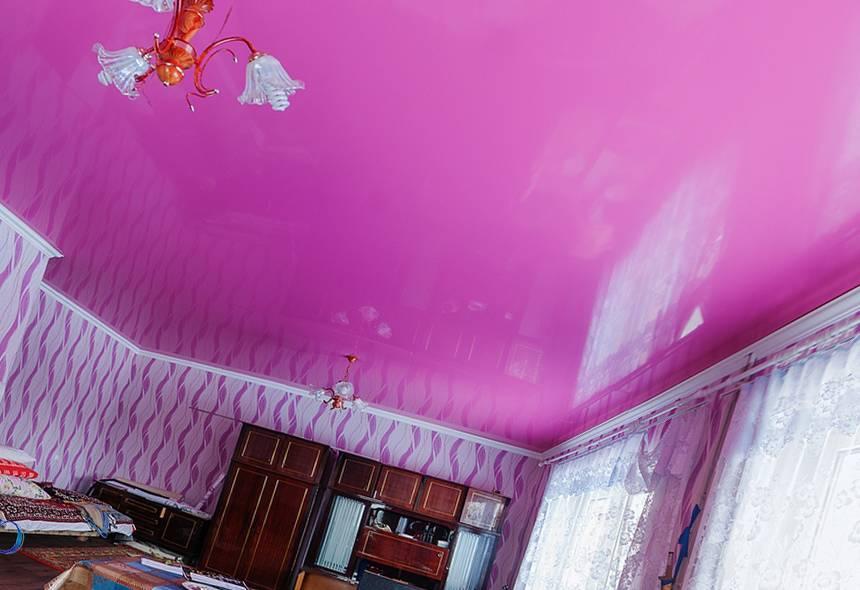 Матовые натяжные потолки: виды, цвет, освещение, дизайн, фото в интерьере