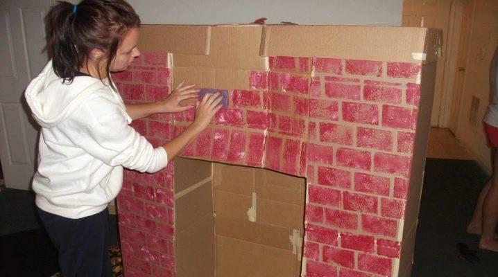Как сделать камин из картона своими руками (+90 фото): пошаговые инструкции и мастер-классы