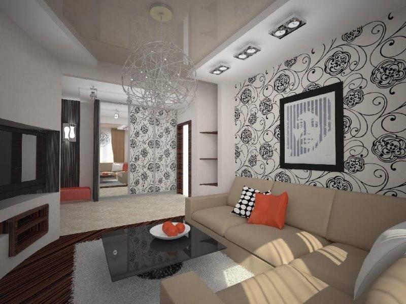 100 новых идей обоев для гостиной - дизайнерская фото-подборка